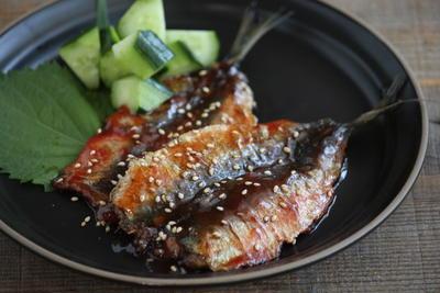 簡単・魚レシピ♪いわしの梅入り蒲焼き