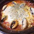 ムール貝のトマト味雑炊