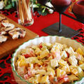 レンジ蒸し鶏とカラフルパプリカのアボサラダ