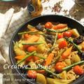 フライパンで簡単♪GABANクミンで低塩分で春野菜のヘルシータジン