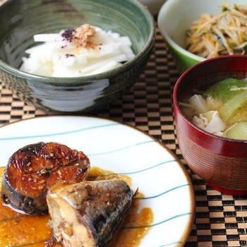 骨まで食べられる鯖の味噌煮