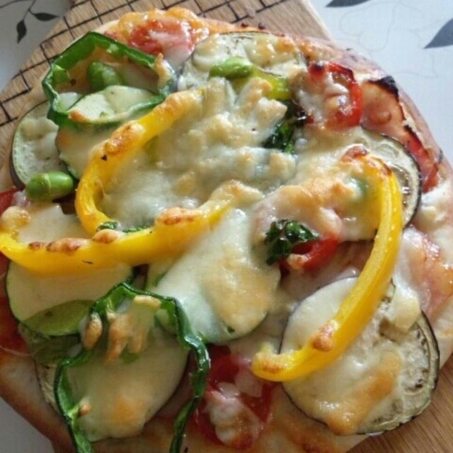 発酵いらず~おうちで手作り夏野菜ピザ<レシピ>