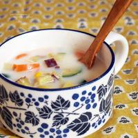 ズッキーニと薩摩芋のミルクスープ