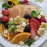 春のパンケーキ * フルーツてんこ盛り♪