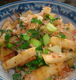 *長芋と小松菜のおかか炒め*