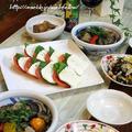 ◆カプレーゼにしぎ茄子でおうちごはん♪~緩やか糖質制限中