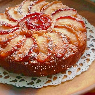 HMで簡単❤可愛い❤お花りんごケーキ