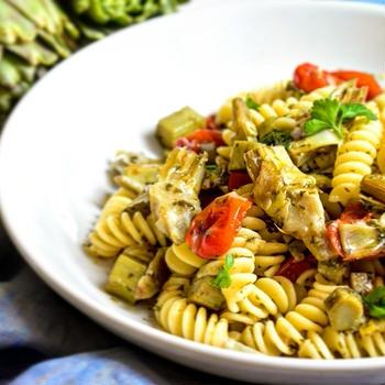 【基本のレシピ】アーティチョークとトマトのパスタ