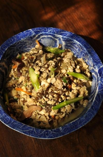 もずく入り 豆腐の炒り煮