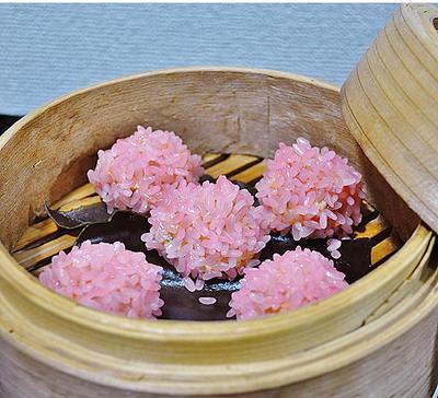 春色~♪ ☆ サーモンの餅米シュウマイ