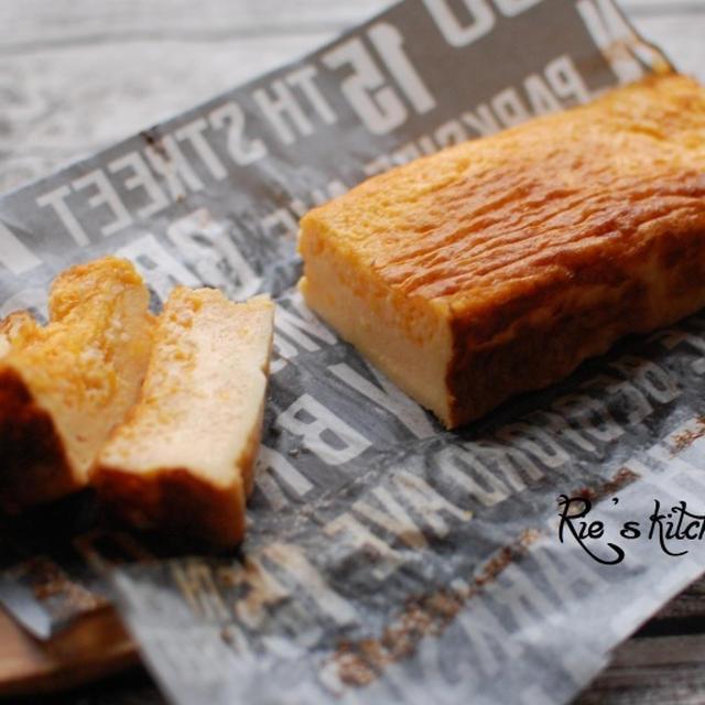 【節約料理】スライスチーズ2枚を使って、ベイクドチーズケーキが本物そっくりでおいしい♪