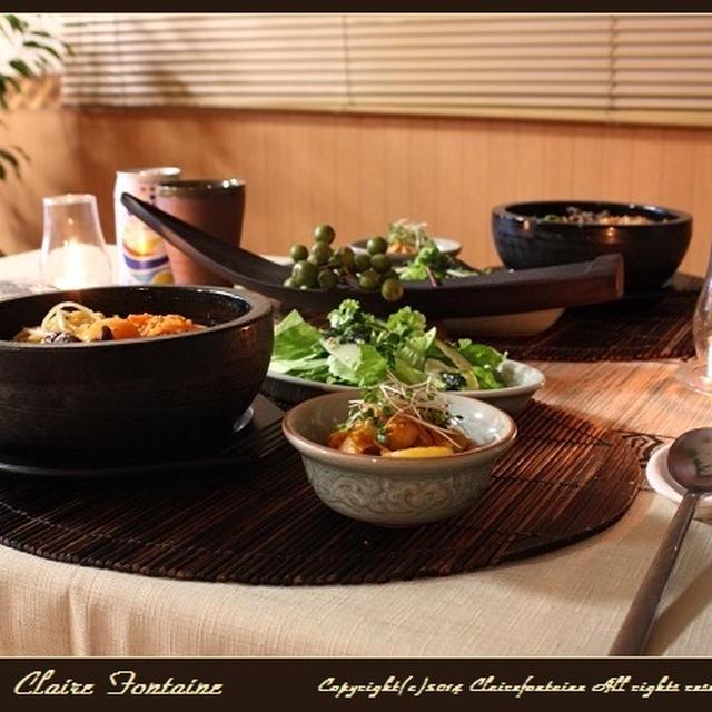 じゃがキムチと石焼ビビンパ!で韓国料理