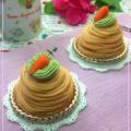 3つのやさいのモンブラン☆チーズクリーム♪きんとん作ろうと思ったらこんなんなりました~★Gen君、初バンド