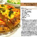 彩りパプリカとブロッコリーとたっぷり野菜のキッシュ 2011年のクリスマス料理10 -Recipe No.1107-