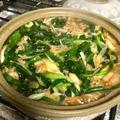 お肉と野菜の簡単鍋♪ニンニク醤油味♪