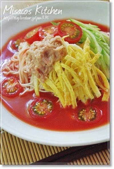 洋風☆さっぱりトマト冷麺♪