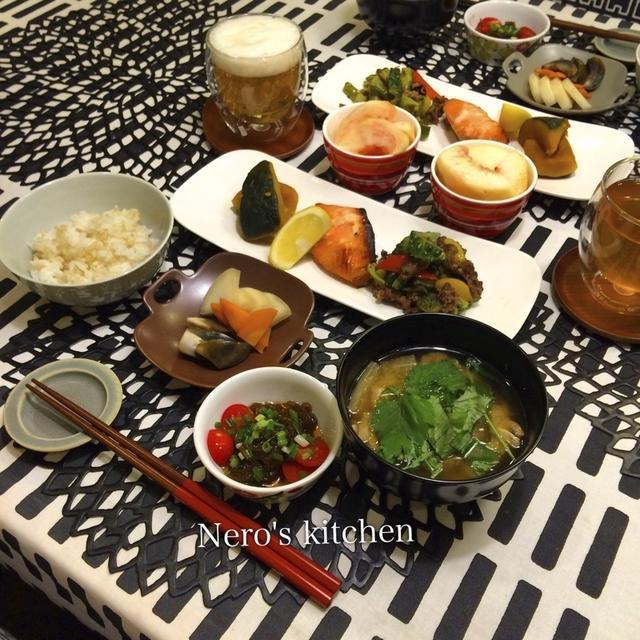 銀鮭の塩麹漬け・ゴーヤーと牛肉の炒めもので晩ごはん&お弁当♪
