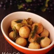 里芋と長ねぎの煮物