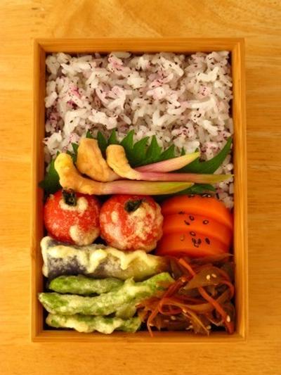 ミニトマトの天ぷら
