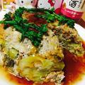 おうちのみ大使♡春キャベツたっぷり蒸し豆腐バーグ♡