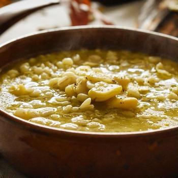 乾燥そら豆と麦のスープ