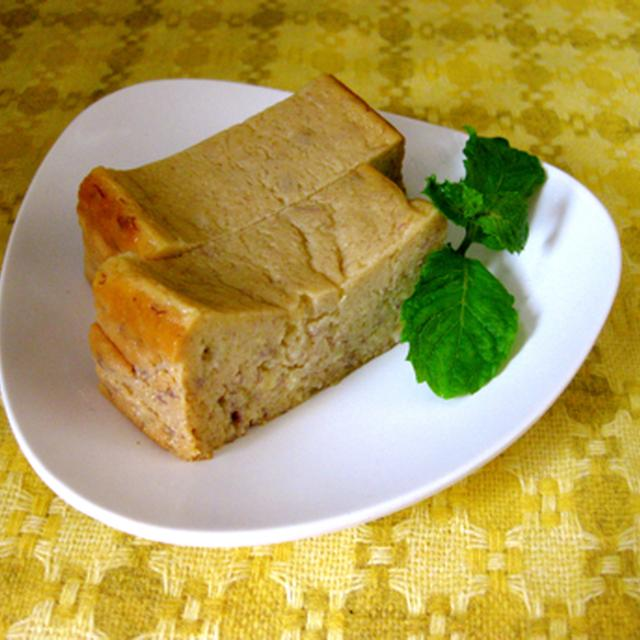 バナナと蜂蜜のリコッタチーズケーキ。