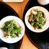 豆苗とピーマンと舞茸の炒め物