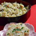 乾燥桜えびと里芋の炊き込みご飯