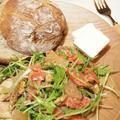 水菜とサーモンのグレープフルーツサラダ
