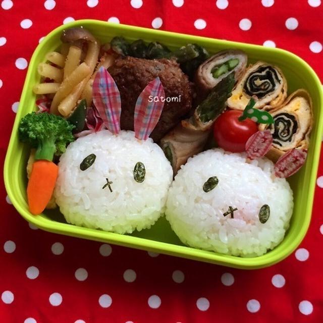2015/07/09 幼稚園弁当☆ 木曜日は… ウサちゃんキャラ弁