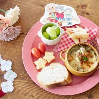 【レシピ】4歳誕生日メニューはグラタンプレート。珍しく手作りケーキでお祝い!