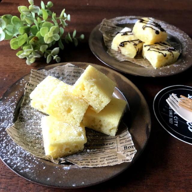 【材料4つ!完成まで8分!】レンジでしっとり卵ケーキ*cottaさんのレンジで作るお菓子特集