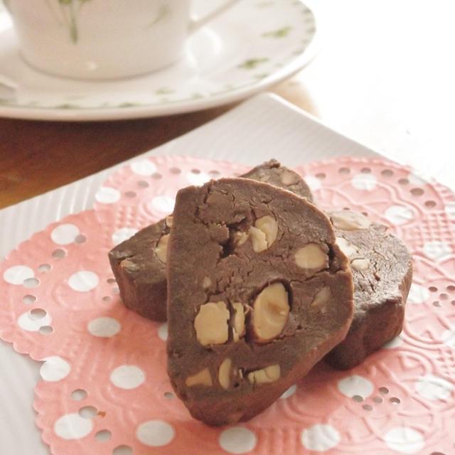 バレンタインに♪スパイスナッツチョコクッキー