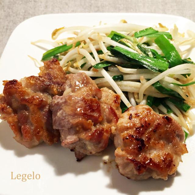 柔らか♪ 豚こま肉にんにく味噌焼き&ニラもやし炒め☆夏バテ対策スタミナ料理♪