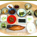 鯖味醂干しで朝の和定食