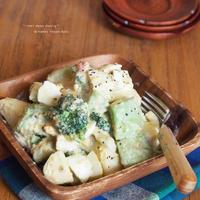 食宣伝com. 床漬けゆで卵 と アボカド と 林檎 の たらこマヨサラダ