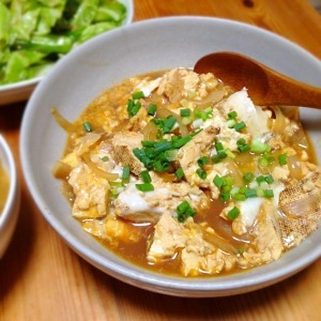 ☆焼き豆腐と玉ねぎの卵とじ