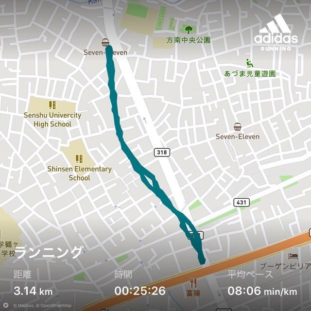 ゆっくりだけど走ってます。