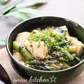 豆腐と小松菜のゆかりあんかけ☆&クックパッド人気検索1位♪