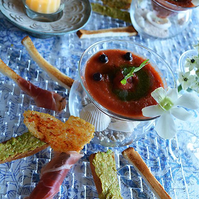 2種の米粉パンスティックをパプリカトマトのジュレで うち飲み ドレパンパーティー