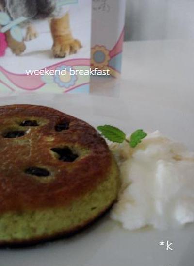 和風*抹茶のホットケーキ