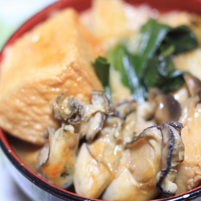 モランボン PREMIUM キムチチゲでレシピ「牡蠣キムチ鍋」♪