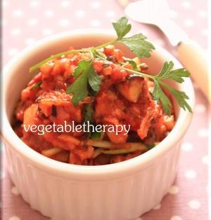きのこで常備菜☆いろいろきのこのトマト煮