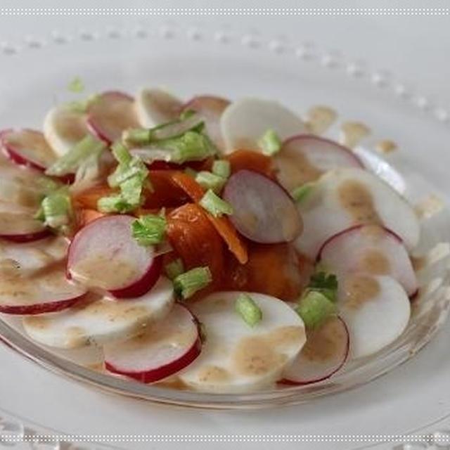 蕪と柿の彩りサラダ☆