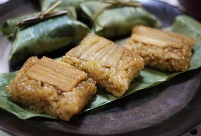 日本料理 うめ原scの「笹巻き穴子のおこわ蒸し」