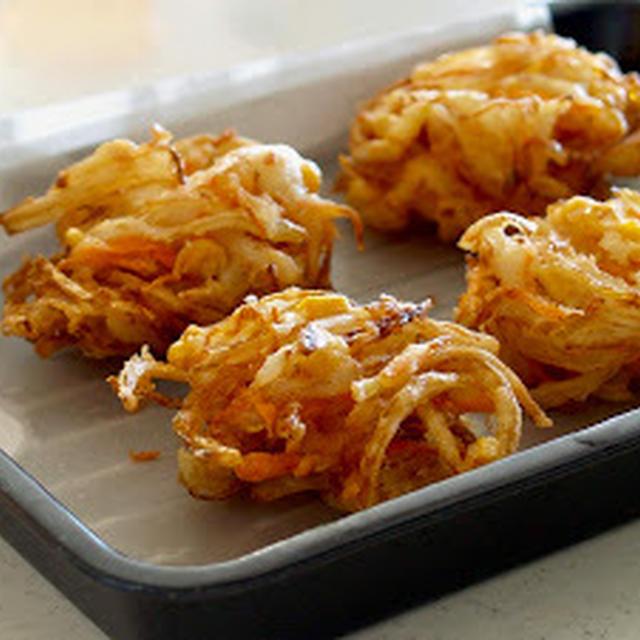 サクサク!野菜のかき揚げの作り方とコツ   英語料理 レシピ動画   OCHIKERON