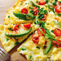 生地なし☆チーズと卵の低糖質ピザ