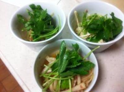 3種類の大根サラダ