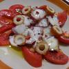 蛸とトマトとちくわのカルパッチョ♪