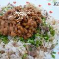 ネバネバ〜♪ぶっかけそぼろ納豆丼☆ by Kikiさん